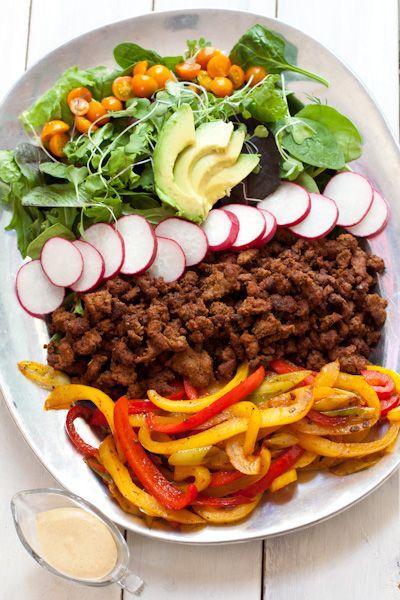 Paleo taco salad   Recipe Renovator   Gluten-free, low-sodium, dairy-free, nut-free
