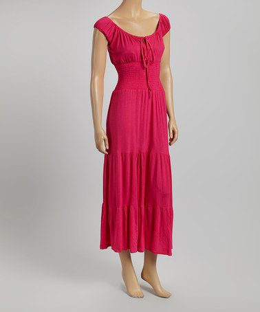 Another great find on #zulily! Pink Cap-Sleeve Maxi Dress by Modern Touch #zulilyfinds