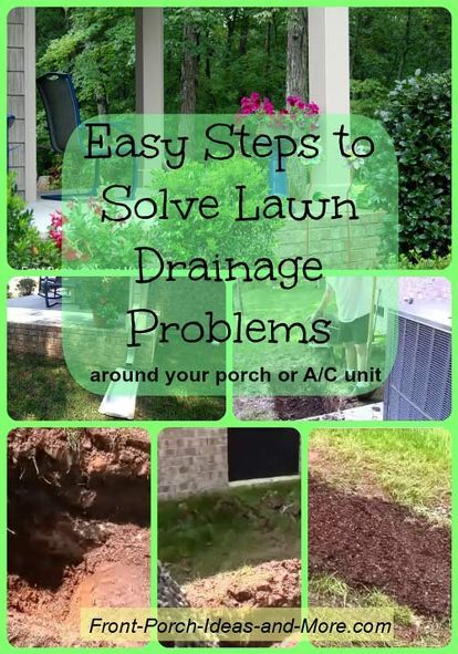 Drainage Ideas For Backyard lawn drainage french drain Easy Steps To Solve Lawn Drainage Problems