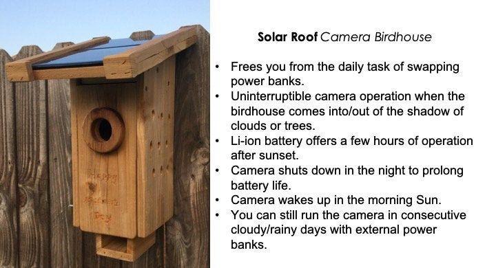 Spy Camera Birdhouse Bird Nest Box Camera Wireless Wifi Solar Roof Solar Power Solar Roof Nesting Boxes Bird Houses