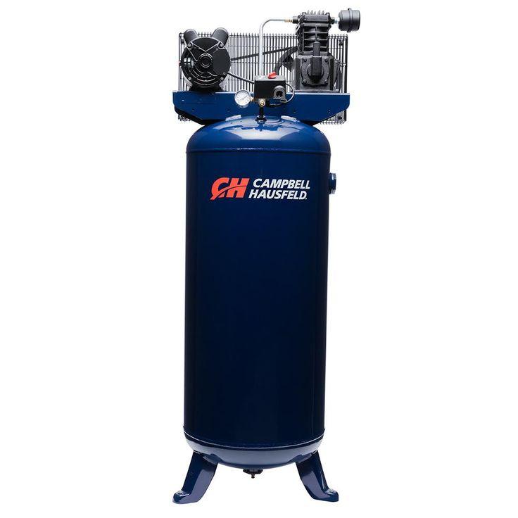 60 Gal. Electric Vertical Single-Stage Stationary Air Compressor 10.2CFM 3.7HP 208-230V 1PH (VT6195)