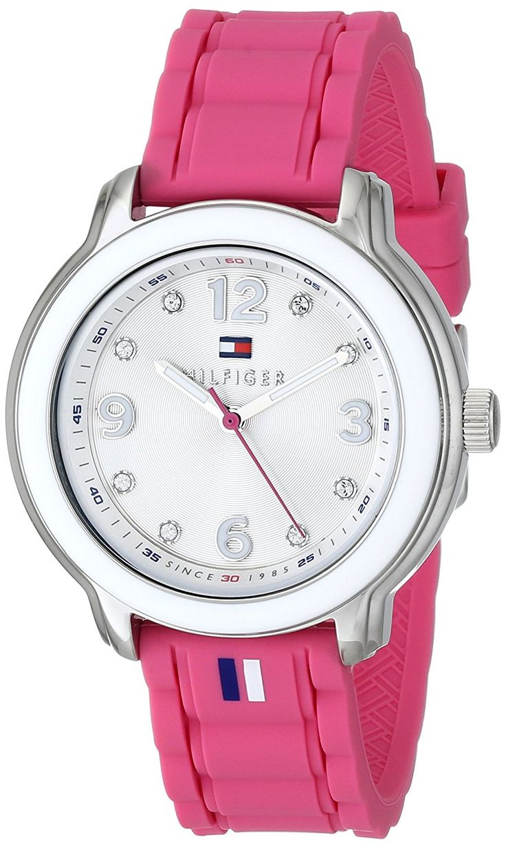 Tommy Hilfiger Women's 1781419 Stainless Steel Watch with Pink Silicone Strap * You can get more details by clicking on the image.