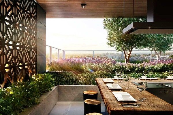 Instead of the humble barbecue, the Ikebana residences by Gurner in West Melbourne will feature a shared teppanyaki grill.