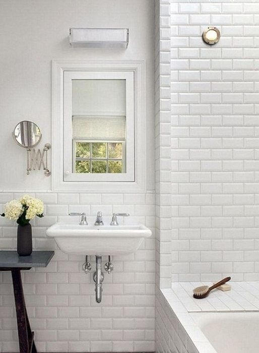 White subway tiles by Fabresa in TileStyle