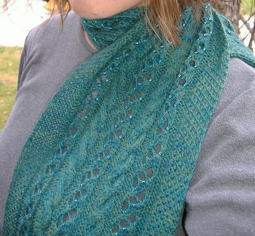 Free Knitting Patterns For Scarves With Beads : Beading Tutorial. Plus free scarf pattern. beaded knitting Pinterest Ca...