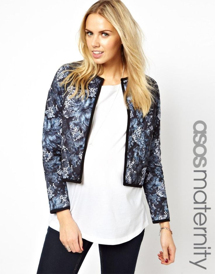 ASOS Maternity Exclusive Quilted Jacket in Print http://picvpic.com/women-coats-jackets-jackets-blazers/asos-maternity-exclusive-quilted-jacket-in-print#multi