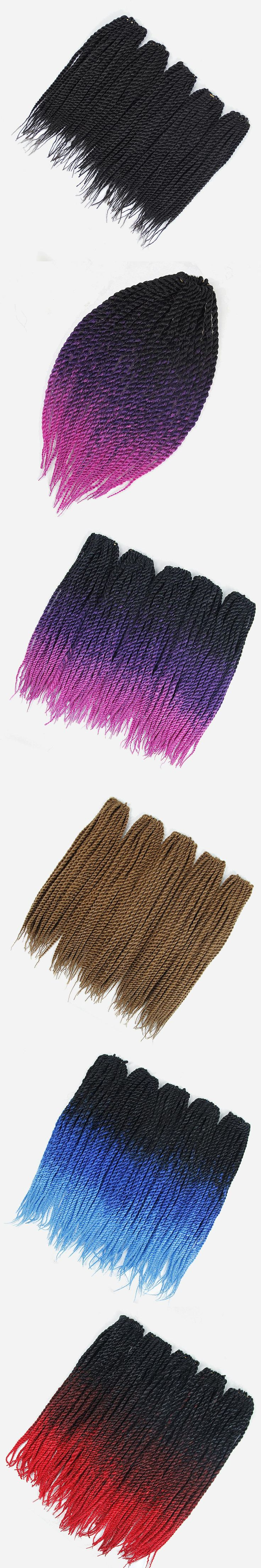 Yhair 18 Inch  Crotchet Braids 16 Colors Synthetic Senegalese Twist Crochet Hair Extensions 1-9Packs /Lot