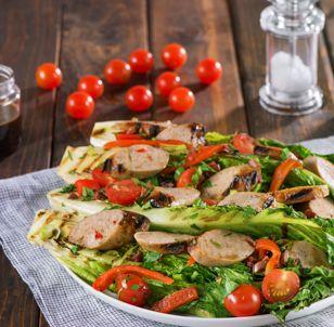 Grilled Glazed Sweet Italian Chicken Sausage Salad