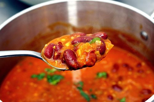 Kidney Bean Curry from Smitten Kitchen. I make this all the time. Healthy, tasty, and ingredients you probably have on hand.