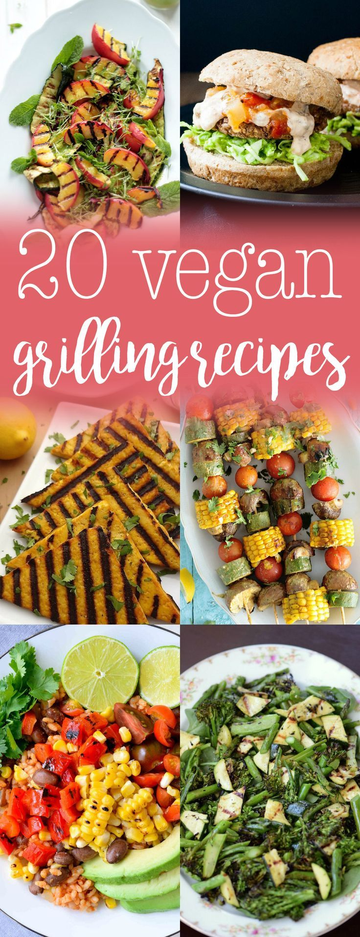 20 Vegan Grilling Recipes - summer grilling isn't just for meat! There are plenty of plant-based recipes for the grill. via /thecrunchychron/