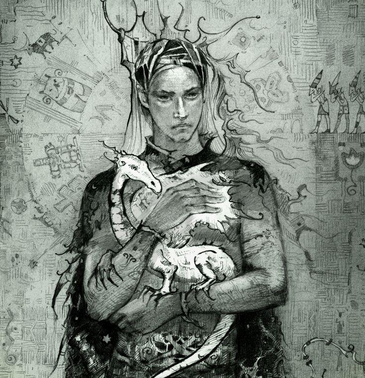 Табачникова Наташа.Сообщество иллюстраторов | Иллюстрация принц с драконом.