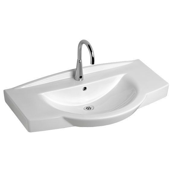 American Standard 0145.001 Lucia Wall Hung Lavatory With 2 Inch Integral  Back Splash And Side. Ada SinkWall Mounted SinkPedestal ...