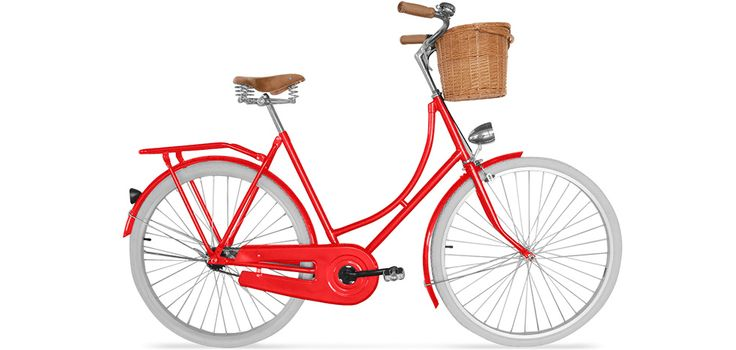 Vélo de Ville Hollandais homme/femme - Pneus Blancs avec Panier