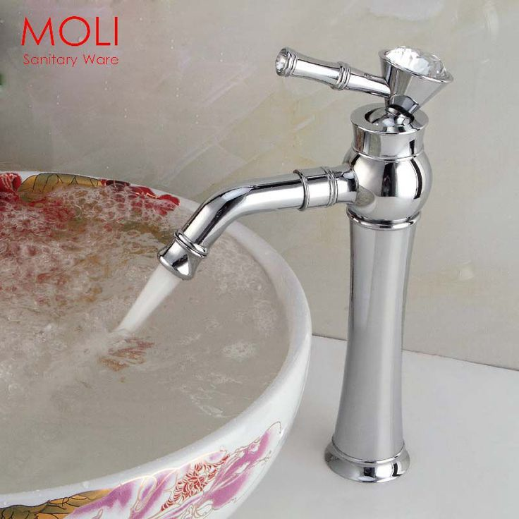 Bathroom faucets crystal handles tall faucet for bathroom basin sink chrome single handle water tap -in Basin Faucets from Home & Garden on Aliexpress.com | Alibaba Group