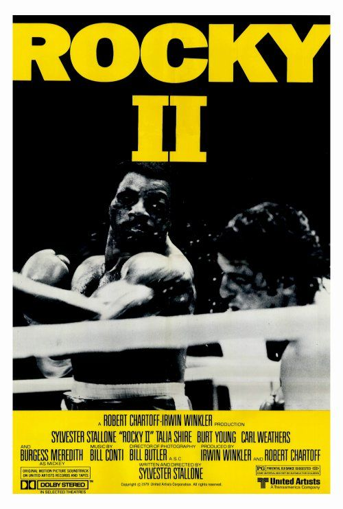 """""""Rocky 2"""" (1979) Directed by Sylvester Stallone / starring Sylvester Stallone, Talia Shire, Burt Young Carl Weathers"""