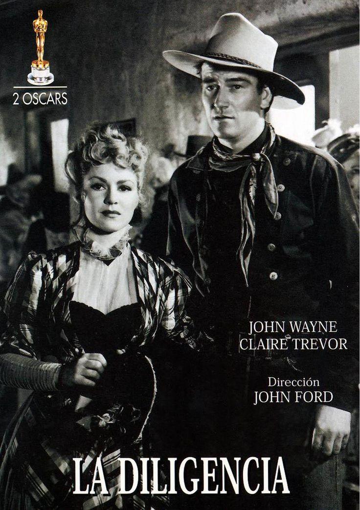 DVD CINE 31 - La diligencia (1939) EEUU. Dir: John Ford. Sinopse: diferentes personaxes reúnense nunha dilixencia para un longo e dura viaxe. Entre eles, un fóra da lei en busca de vinganza, unha prostituta, un xogador, un médico, a muller embarazada dun militar, un shériff. As relacións entre un grupo tan distinto variado serán difíciles e tensas