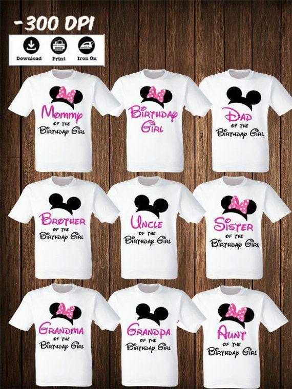 Disney Family Mickey Minnie Mouse Set Of 9 Iron On Transfers Mickey Minnie Mouse Matching Family Shirts Mickey Minnie Matching Birthday Set Minnie Mouse First Birthday Family Birthday Shirts Minnie Mouse