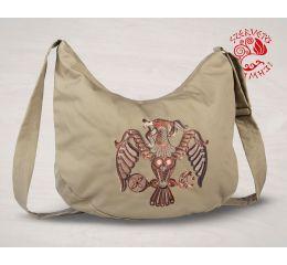 Szervető-rakamazi turul félhold táska - bézs-barna