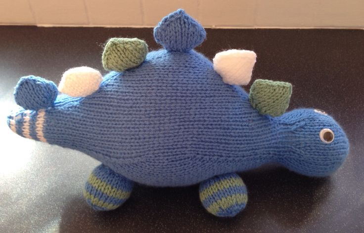 My hand knitted dinosaur