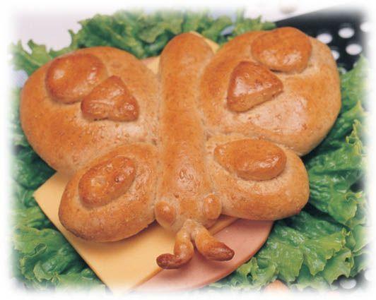Betty Butterfly Sandwich (dough shaping instructions)