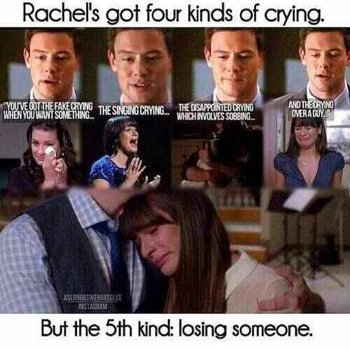 Rachel's got four *five* kinds of crying.