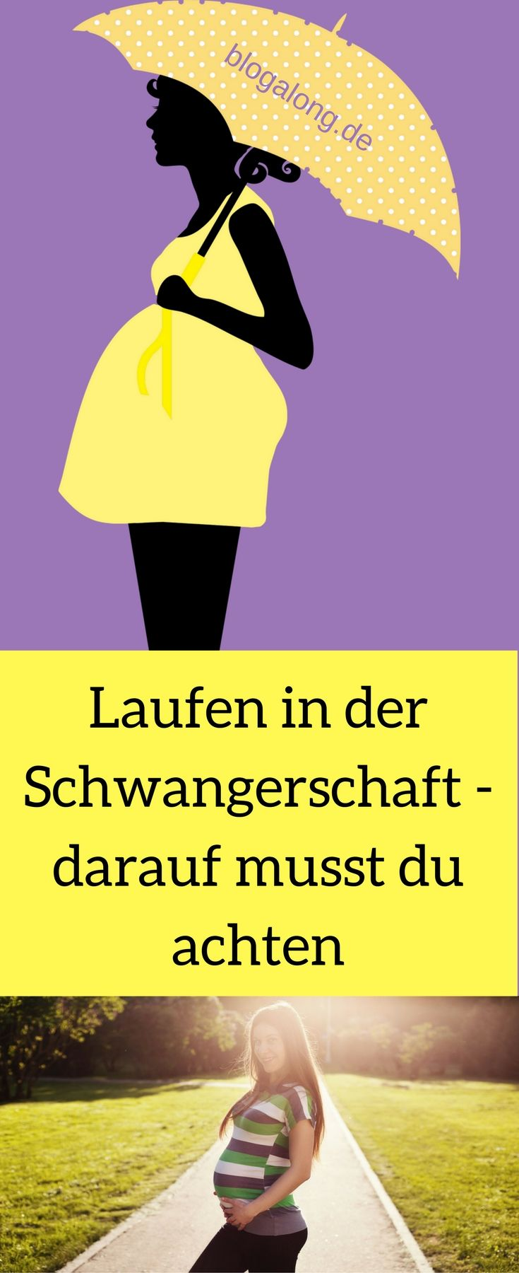 Laufen in der Schwangerschaft – darauf musst du achten #schwanger #laufen #aktiv