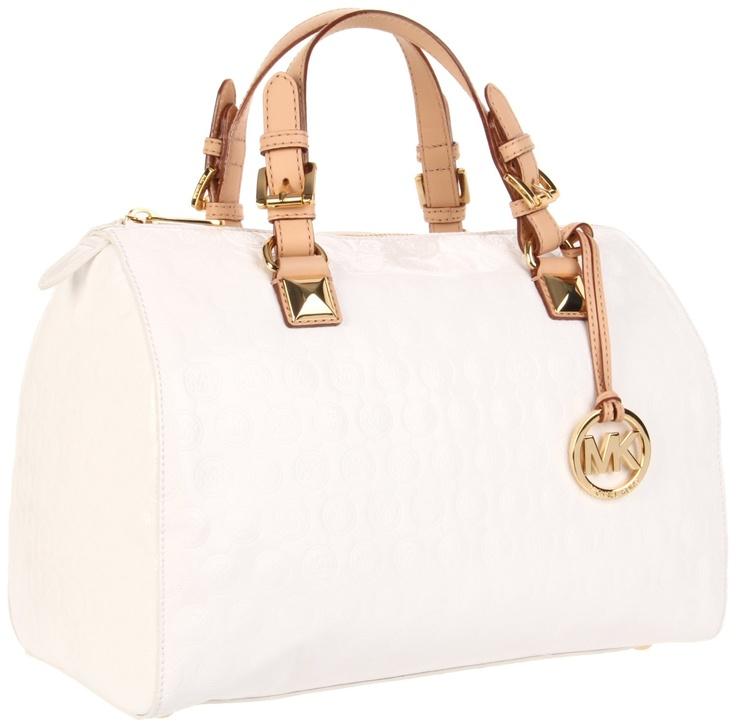 Michael Kors Collection Woman Chain-embellished Leather Shoulder Bag White Size Michael Kors b1hTu
