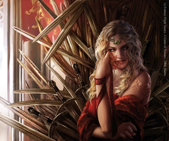 """Cersei Lannister by Magali Villeneuve. """"She never forgets a slight, real or imagined. She takes caution for cowardice and dissent for defiance. And she is greedy. Greedy for power, for honour, for love."""""""