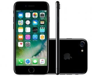 "iPhone 7 Apple 256GB Preto Brilhante 4G 4,7""Retina - Câm. 12MP + Selfie 7MP iOS 10 Proc. Chip A10"