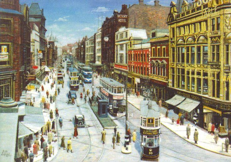 Pete Lapish - Briggate - Leeds - West Yorkshire - England - Chamberlain - Horsfield & Ex London Feltham Trams - 1948
