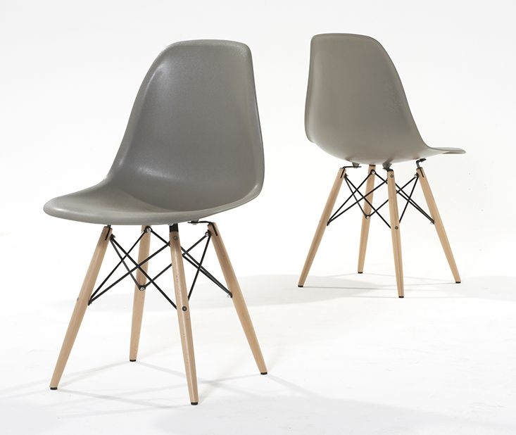 240 GBP - Buy the Oxford 120cm Solid Oak Dining Table with Charles Eames Style DSW Eiffel Chairs at Oak Furniture Superstore