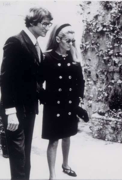 YSL and Catherine Deneuve, 1966