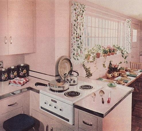 Vintage 1960 s Küche Essecke