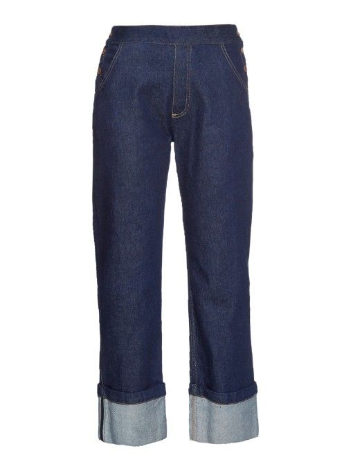 See By Chloé Side-button high-rise straight-leg jeans