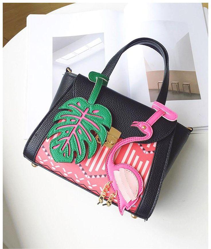 Handbag Flamingo 2 colors (pink and black) – Floral Cat