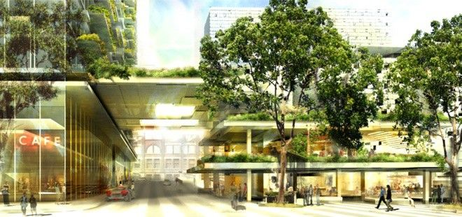 One Central Park A Revolutionary Symbiotic Planting And Building Concept By Jean Nouvel In 2020 Building Concept Green Building Design Symbiotic Plants