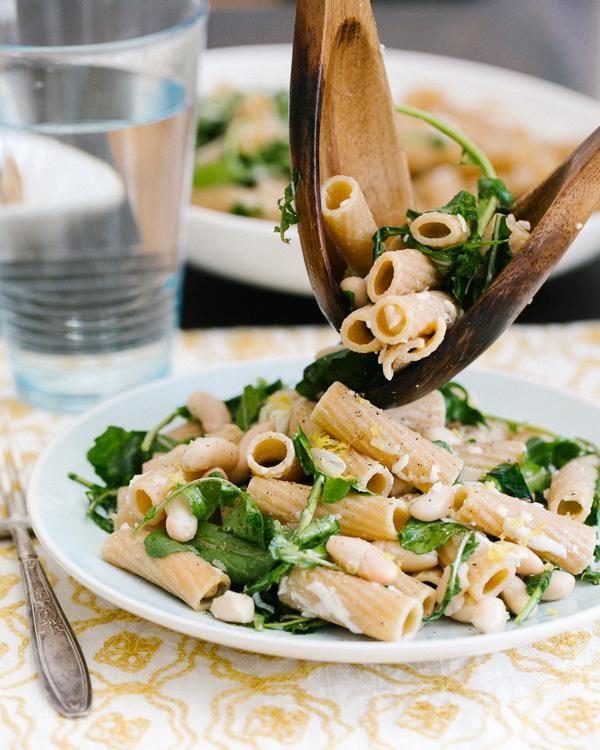 Pasta Recipes : Lemon and Arugula Rigatoni