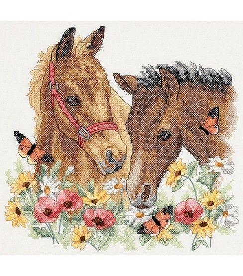 Dimensions Horse Friends Stmpd X-Stitch Kit