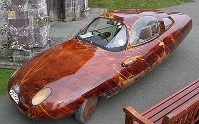 gorgeous wooden car made by furniture maker Friend Wood