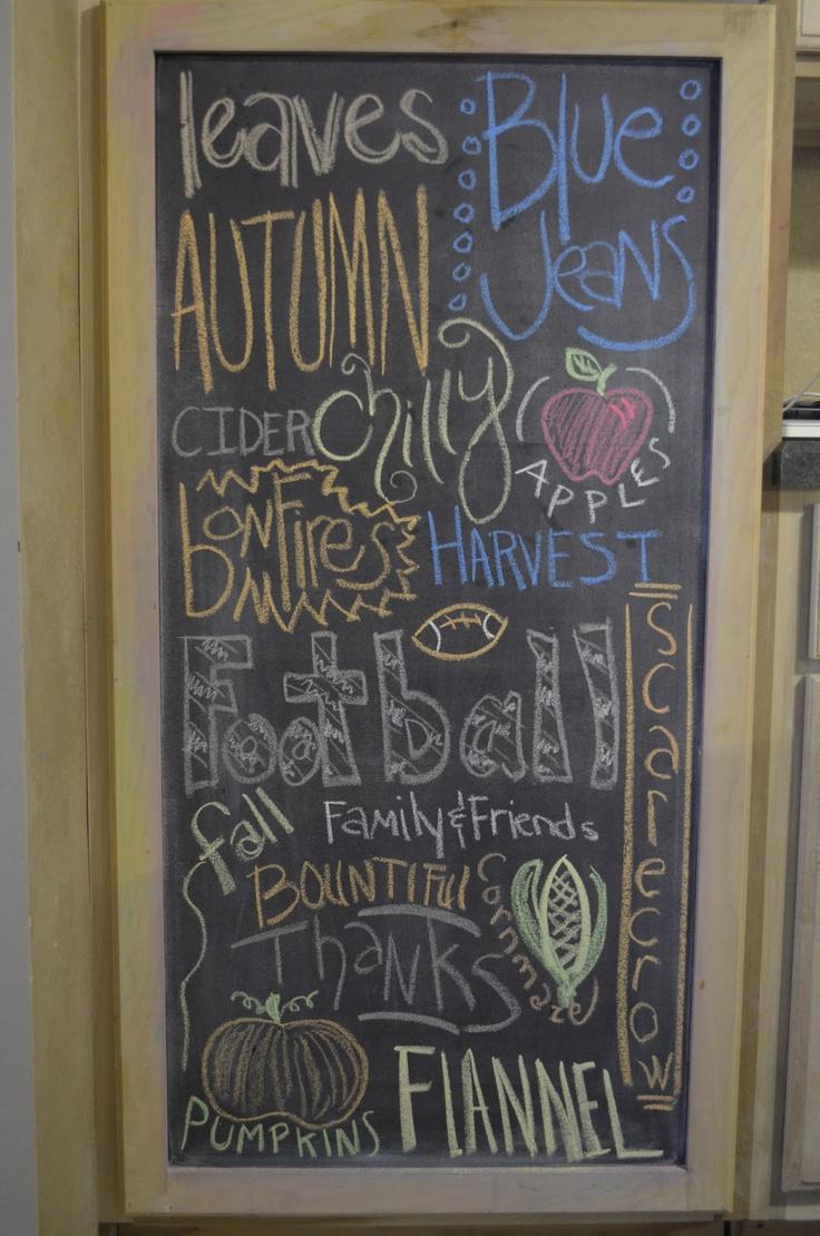 Best 25 Fall Chalkboard Ideas On Pinterest Fall