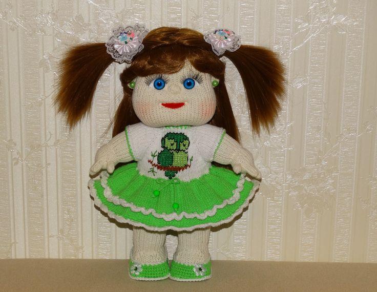 кукла вязаная спицами