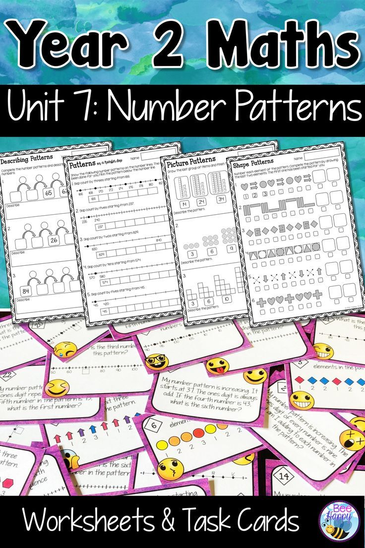 Australian Curriculum Number Patterns Worksheets And Task Cards Year 2 Australian Curriculum Number Patterns Worksheets Pattern Worksheet
