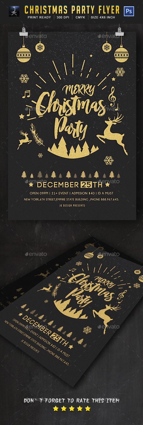 Christmas Flyer — Photoshop PSD #christmas tree #new year • Download ➝ https://graphicriver.net/item/christmas-flyer/18980362?ref=pxcr