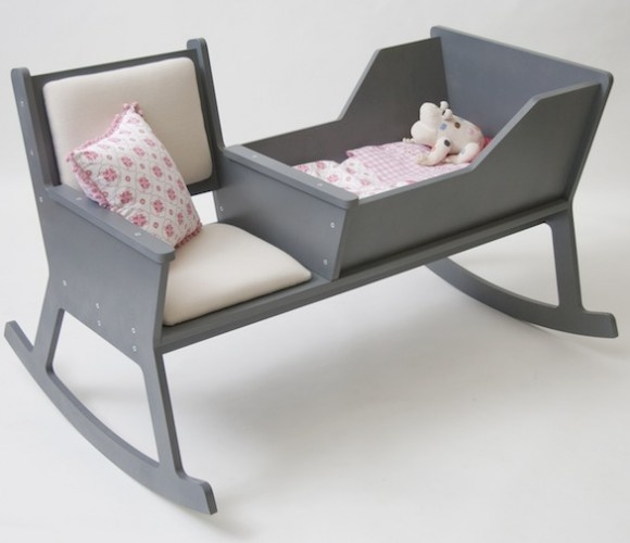 Rockid 2-in-1 Cradle and Rocking Chair For Baby