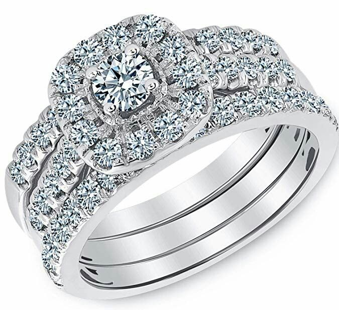 Beverly Hills Jewelers 1 00 Carat Diamond Engagement Ring Igi Certified 14 Karat White Gold D Diamond Engagement Rings Engagement Rings Jewelry Rings Diamond