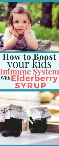 Want to boost your kids immune system this cold and flu season? Prevent your kid from getting sick with elderberry syrup. Easy and delicious. One of the best remedies for your all natural medicine cabinet. via @The Happy Herbal Home