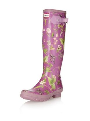 29% OFF Hunter Boots Women's Classic Tall Original Rainboot (Violet Floral)