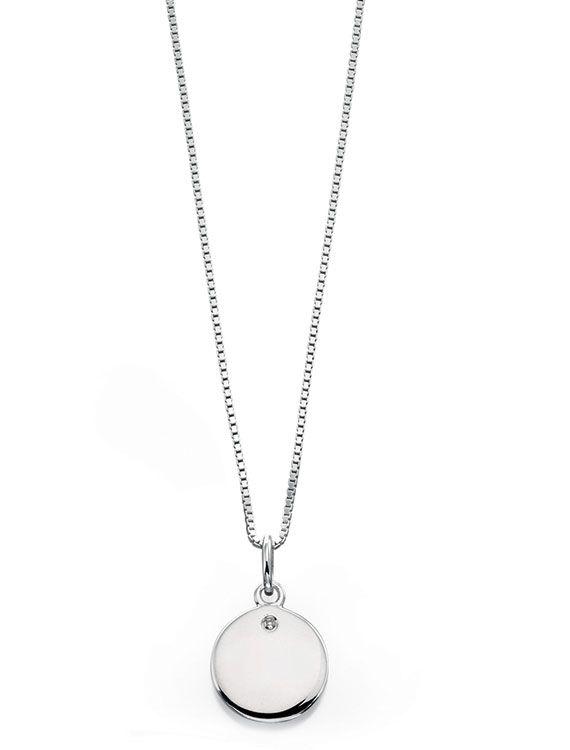 Child's Sterling Silver & Diamond Necklace