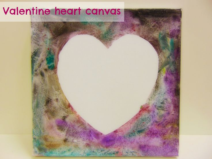 These are the Valentine heart canvases we made today with our babies & toddlers!