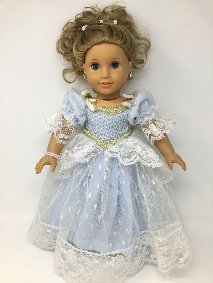 American Girl Elizabeth dressed as Cinderella #Americangirl #Cinderella